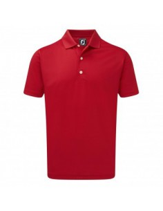 FOOTJOY STRETCH PIQUE SOLID KNIT COLLAR RED - POLO HOMBRE