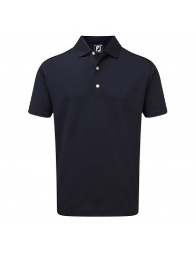 FOOTJOY STRETCH PIQUE SOLID KNIT COLLAR NAVY - POLO HOMBRE
