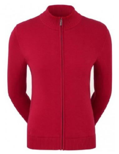 FOOTJOY FULL ZIP LINED PULLOVER RED -...