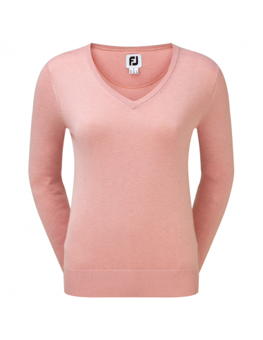 FOOTJOY FULL ZIP LINED PULLOVER PINK...