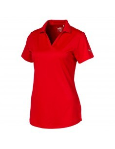PUMA W ICON GOLF POLO RED -...