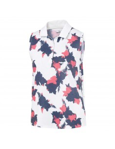 PUMA FLORAL SLEEVELESS POLO...