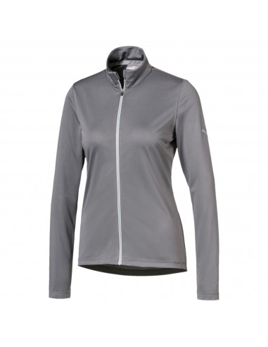 PUMA W ICON FULL ZIP GREY - JERSEY MUJER