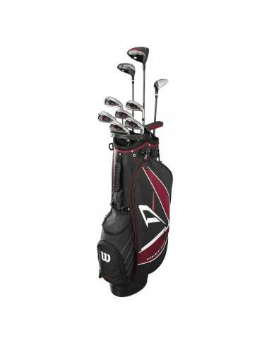 WILSON DEEP RED COMPLETE CLUB SET...